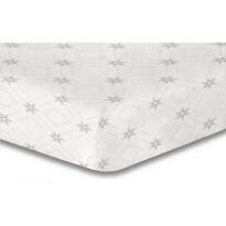 DecoKing Prostěradlo Snowynight šedá S2 mikrovlákno, 90 x 200 cm
