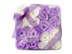Dekorativní mýdlové květy fialové