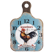 Nástenné hodiny Drevená doštička Rooster
