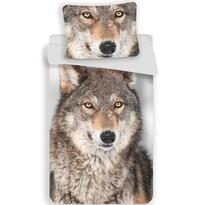 Bavlněné povlečení Vlk, 140 x 200 cm, 70 x 90 cm