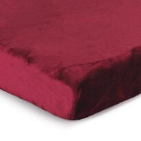 Cearşaf Micro-pluş, burgund, 90 x 200 cm