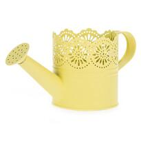 Metalowa konewka Lace żółty, śr. 10 cm
