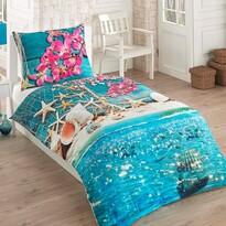 Exclusive Sea 3D pamut ágynemű garnitúra, 140 x 200 cm, 70 x 90 cm