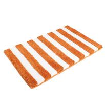 Matějovský Kúpeľňová predložka SOFT Pruhy oranžová, 60 x 90 cm