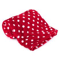 Pătură 4Home Soft Dreams Buline roșu, 150 x 200 cm