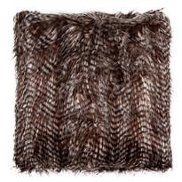 Poduszka pręgowana czarny, 45 x 45 cm