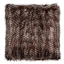 Vankúšik žíhaný čierna, 45 x 45 cm