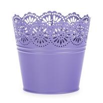 Zinkový kvetináč Čipka fialová, pr. 13,5 cm