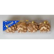 Květ Glitter champagne, pr. 6 cm