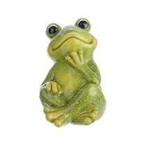 Dekoračná žaba Relax, zelená, 14 cm