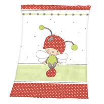 Pătură de copiii  Luis Ladybug, 75 x 100 cm