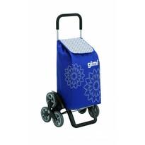 Gimi Kerekes bevásárlókocsi Tris Floral kék, 56 l
