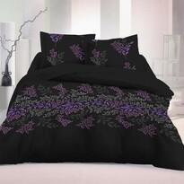 Luxury Collection Victoria szatén ágynemű, fekete, 140 x 200 cm, 70 x 90 cm