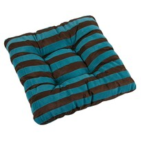 Sedák Leona pruhy modrá, 40 x 40 cm