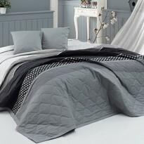 BedTex Prehoz na posteľ Eifel sivá, 220 x 240 cm, 2x 40 x 40 cm