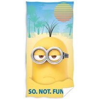 Prosop plajă Minionii So.Not.Funny., 70 x 140 cm