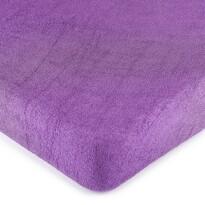 Cearșaf de pat 4Home, din frotir, violet, 160 x 200 cm