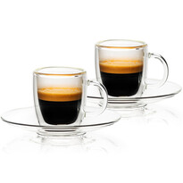 4home Termo sklenice Ristretto Hot&Cool  50 ml, 2 ks