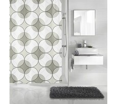 Koupeľňový záves Retro Meusch sivá, 180 x 200 cm