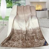 Vlněná deka Australské merino přírodní, 155 x 200 cm