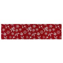 Behúň Vločka červená, 40 x 120 cm