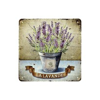 Obraz na kovovej doske La Lavande, 20 x 20 cm