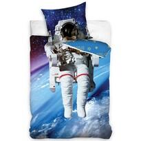 Dětské bavlněné svíticí povlečení Astronaut, 140 x 200 cm, 70 x 90 cm