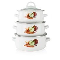 Banquet APPLE 6dílná sada smaltovaného nádobí