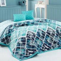 Cuvertură de pat BedTex Riviera, turcoaz, 220 x 240 cm, 2x 40 x 40 cm
