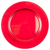 Dekoračný tanier červená, 32,5 cm
