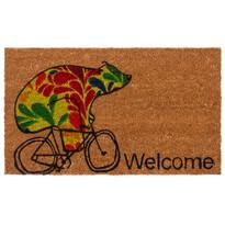 Wycieraczka kokosowa Niedźwiedź na rowerze, 43 x 73 cm