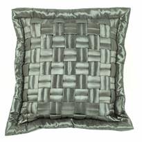 Obliečka na vankúšik mriežka sivá, 45 x 45 cm