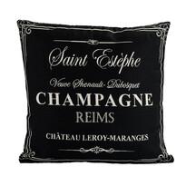 Obliečka na vankúšik Gobelín Champagne čierny, 45 x 45 cm