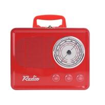 Plechová dóza Rádio, červená