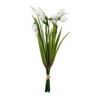 Umelá kvetina zväzok snežienok, 30 cm