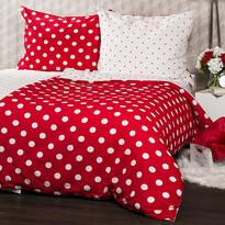 Lenjerie de pat din crep 4Home Bulină roşie
