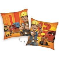 Poduszka Bob budowniczy i pomocnicy pomarańczowy, 40 x 40 cm