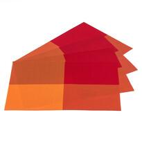 Suport farfurie DeLuxe, portocaliu, 30 x 45 cm, set 4 buc.