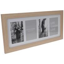 Fotorámček na 4 fotografie Seia svetlohnedá, 53 x 25 cm