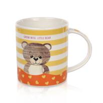 Porcelánový hrnček Little bear 280 ml, žltá