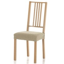 Multielastický potah na sedák na židli Petra béžová, 40 - 50 cm, sada 2 ks