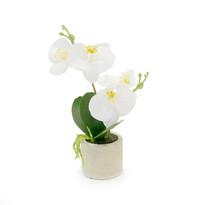 Umělá květina orchidea bílá, 26,8 cm