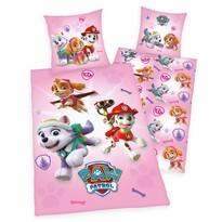 Dziecięca pościel bawełniana Psi patrol pink, 140 x 200 cm, 70 x 90 cm