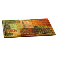 Venkovní rohožka Hello bonjour, 46 x 76 cm