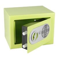 Stalowy sejf z zamkiem elektronicznym, zielony
