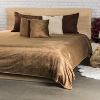 4Home Narzuta na łóżko Salazar brązowy, 220 x 240 cm, 2x 40 x 40 cm