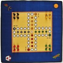 Dětský koberec Člověče nezlob se, 92 x 92 cm