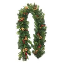 Ghirlandă de Crăciun Savona, verde, 200 cm