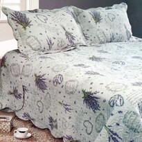 Přehoz na postel Levandule, 230 x 250 cm,  2x 50 x 70 cm