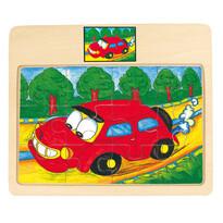 Bino Puzzle na doske Auto Tori